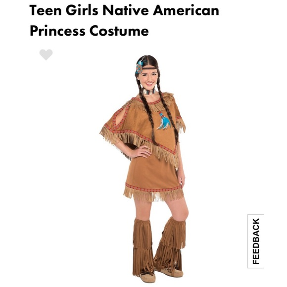 bnwt juniors native princess halloween costume